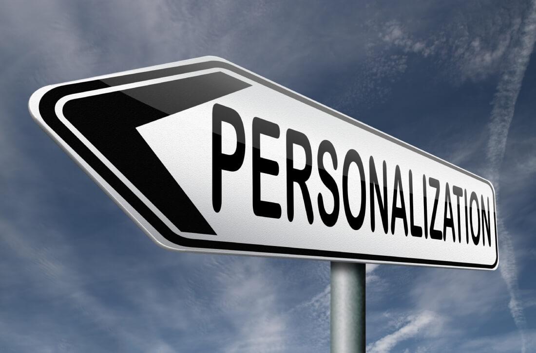 Consultant personalization site web