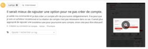 Test utilisateur création de compte chekout
