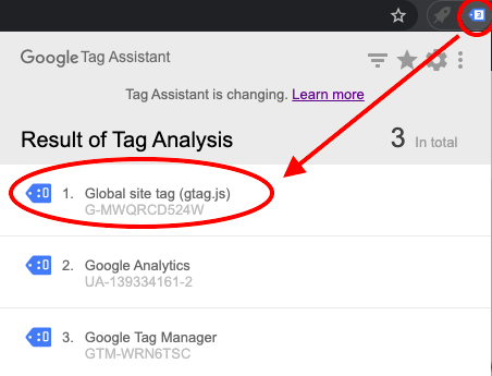 google tag assistant analytics 4
